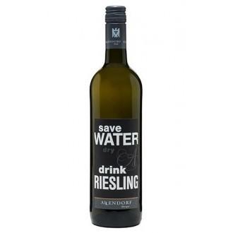 SAVE WATER DRINK RIESLING ! MINI FLESJE 0,25 L