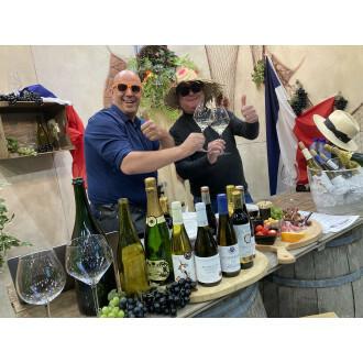 BOTTLES@HOME wijnproeverij thema FRANKRIJK met mondelinge uitleg en entertainment via een link