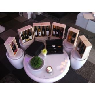 Luxe Houten Kist met schuifdeksel voor twee flessen