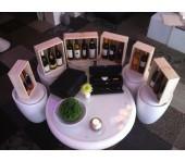 Luxe Houten Kist met schuifdeksel voor vijf flessen