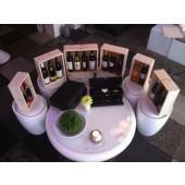 Luxe Houten Kist met schuifdeksel voor vier flessen